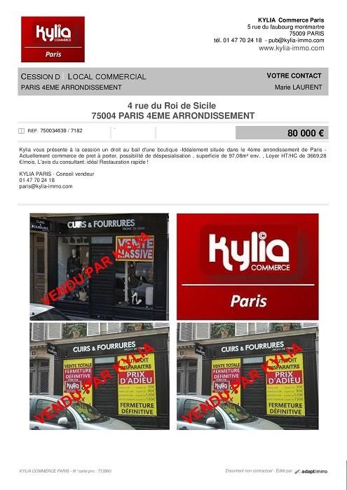 Une nouvelle affaire vendue par kylia paris Kylia immobilier