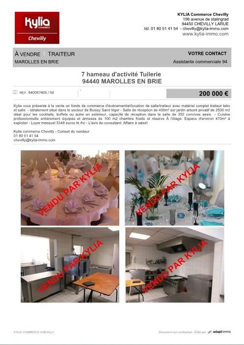 Une nouvelle affaire vendue par kylia commerce chevilly Kylia immobilier