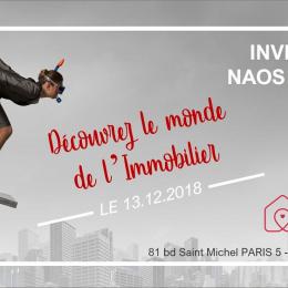 Le 13/12 à 19h : découvrez le monde de l'immobilier !  Naos immobilier