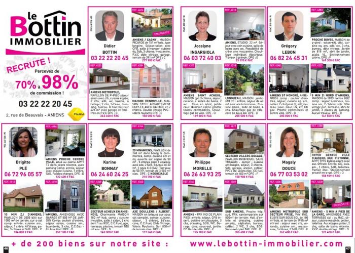D�couvrez en exclusivit�  notre double page dans l'immo 80  Le bottin immobilier