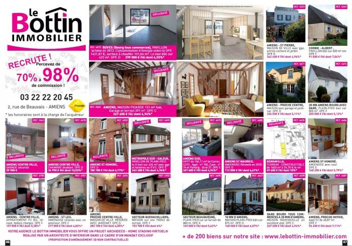Decouvrez notre double page du mois de mars Le bottin immobilier
