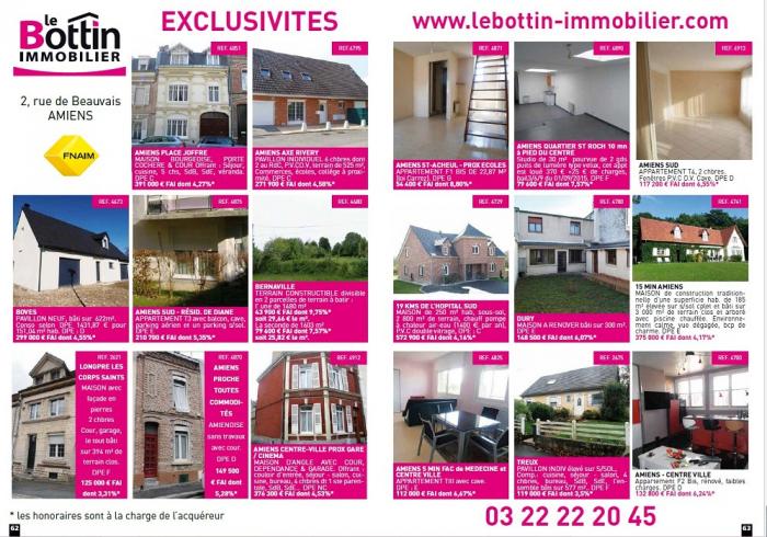 Nouvelle double page dans l'immo 80  Le bottin immobilier