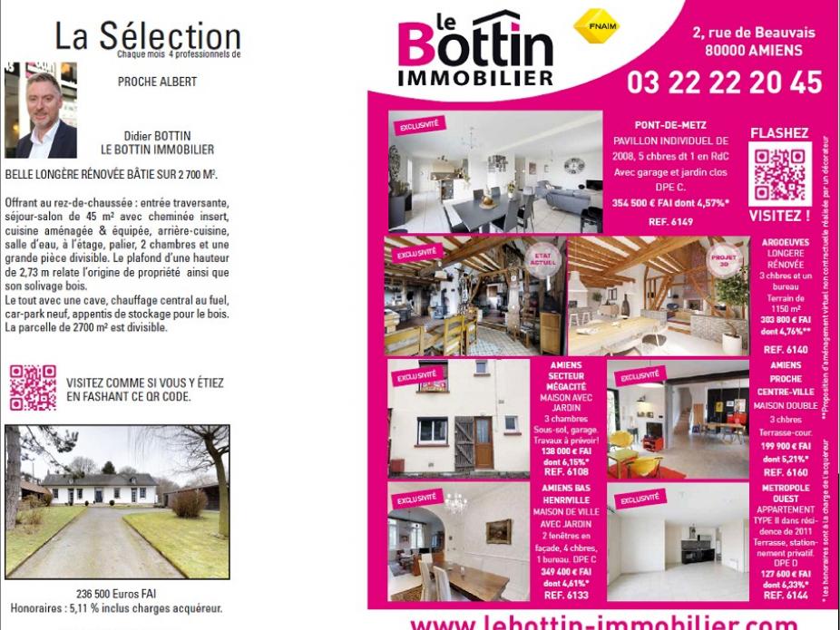 Nos publications dans l'immo 80 de février Le bottin immobilier