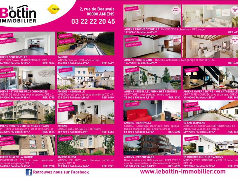 Retrouvez notre double page dans l'immo 80 de juin  Le bottin immobilier