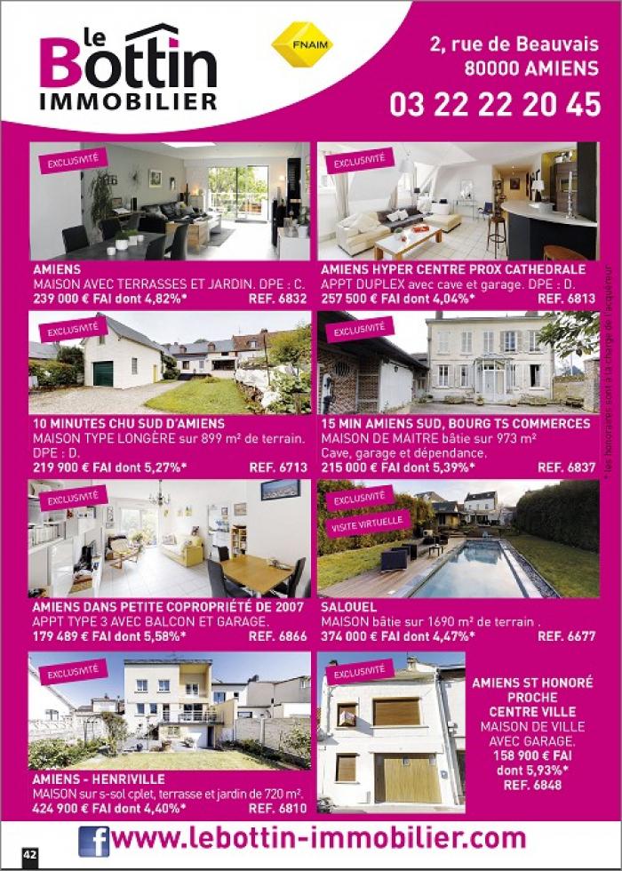 Notre page dans l'immo 80 du mois d'ao�t Le bottin immobilier