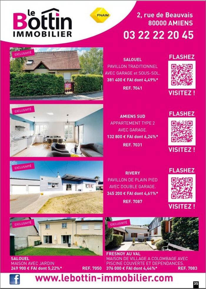 Notre page dans l'immo 80 se septembre // flashez, visitez !  Le bottin immobilier