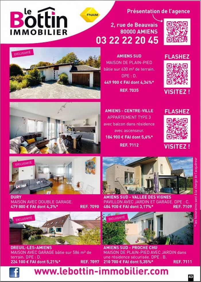Notre page dans l'immo 80 du mois d'octobre  Le bottin immobilier