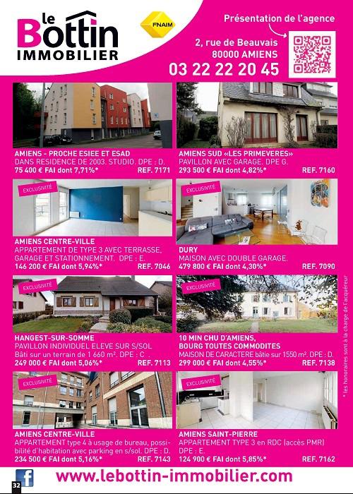 Notre page dans l'immo 80 du mois de mars Le bottin immobilier