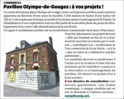 Pavillon olympe de gouge Grand paris immo transaction