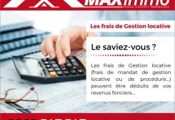 Les frais de gestion locative Maximmo cg transaction