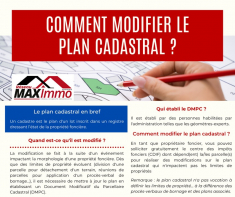 Comment modifier le plan cadastral ? Maximmo cg transaction