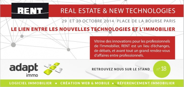 Salon paris rent 2014 : real estate & new technologies Adapt immo