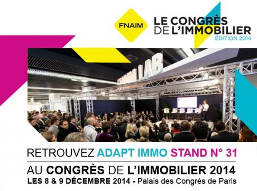 Le congrès de l'immobilier - fnaim - edition 2014.  Adapt immo
