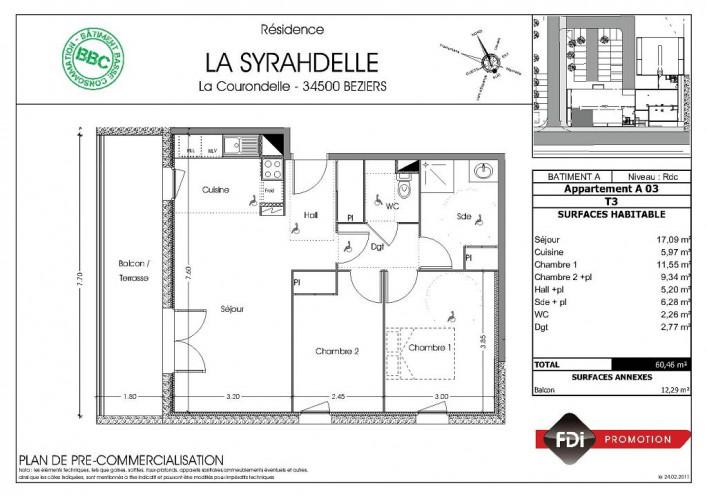 Programme neuf Beziers Hérault 343017 Agences daure immobilier